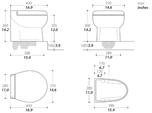 Elegance Short Toilet